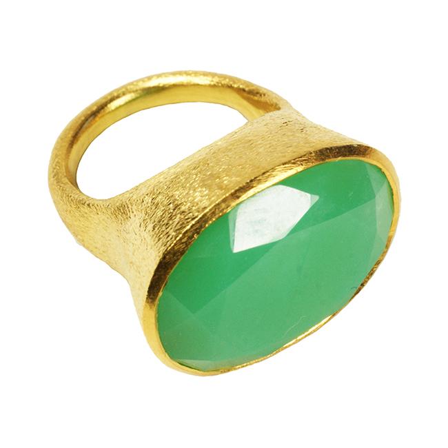 Calypso Ring Chrysoprase