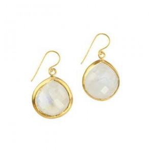Candy Pear Earrings Moonstone