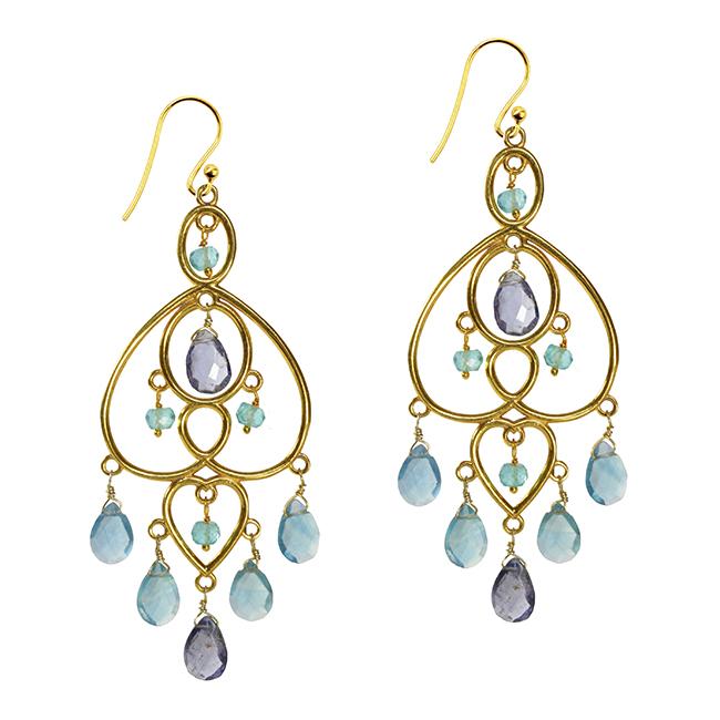 Amelie Earrings Apatite Iolite