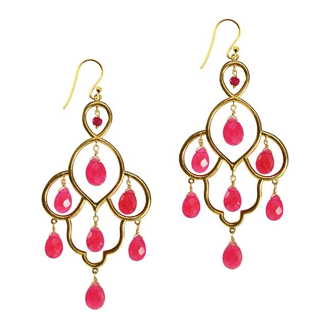 Layla Earrings Ruby