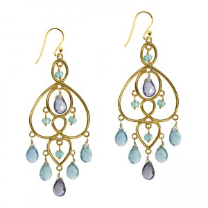Amelie Earrings Apatite Iolite