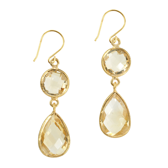 Belinda Bel Earrings Citrine