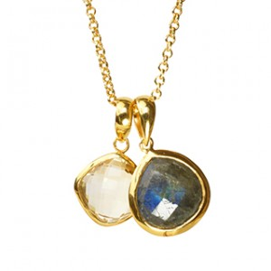 Candy Necklace Labradorite Citrine