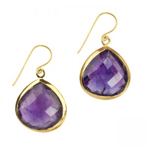 Candy Pear Earrings Amethyst