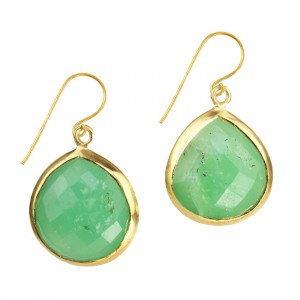 Candy Pear Earrings Chrysoprase