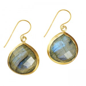 Candy Pear Earrings Labradorite