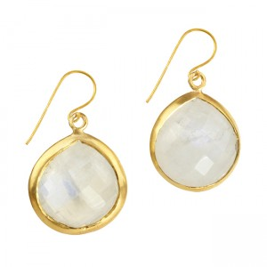 Candy Pear Earrings Moonstone