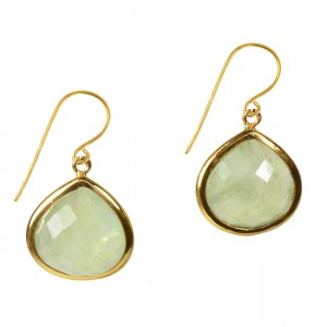 Candy Pear Earrings Prehnite