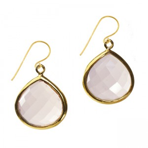 Candy Pear Earrings Rose Quartz