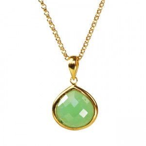 Candy Pear Necklace Chrysoprase