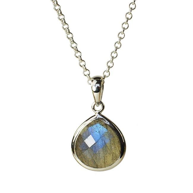 Candy Pear Necklace Labradorite Silver