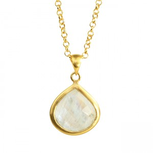Candy Pear Necklace Moonstone