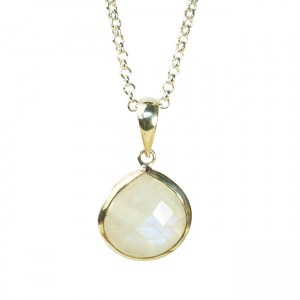 Candy Pear Necklace Moonstone Silver