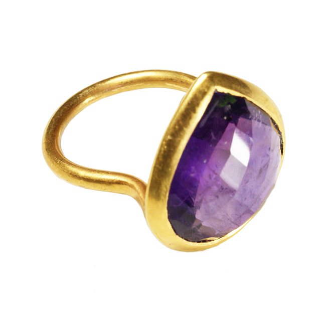 Candy Pear Ring Amethyst