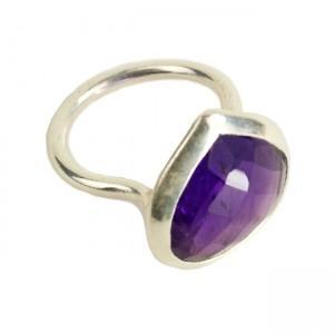 Candy Pear Ring Amethyst Silver