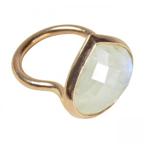 Candy Pear Ring Moonstone Rose Gold