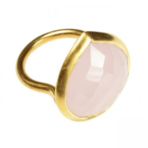 Candy Pear Ring Pink Chalcedony