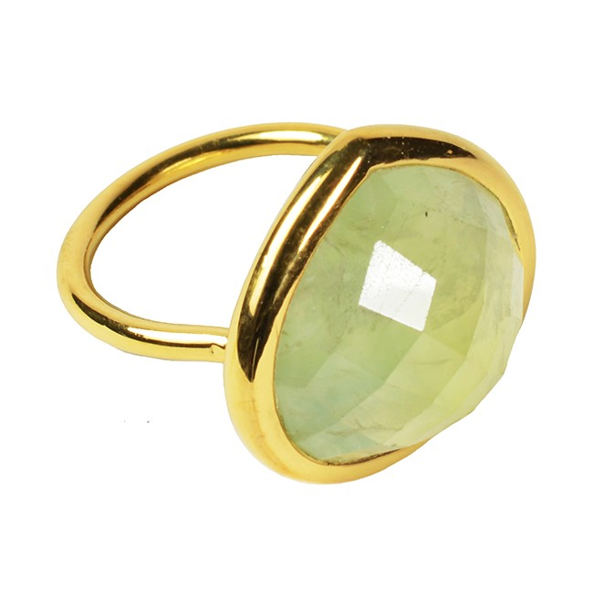 Candy Pear Ring Prehnite