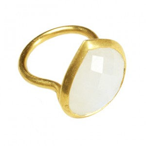 Candy Pear Ring Moonstone