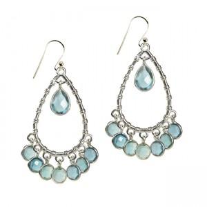 Clara Earrings Apatite Silver