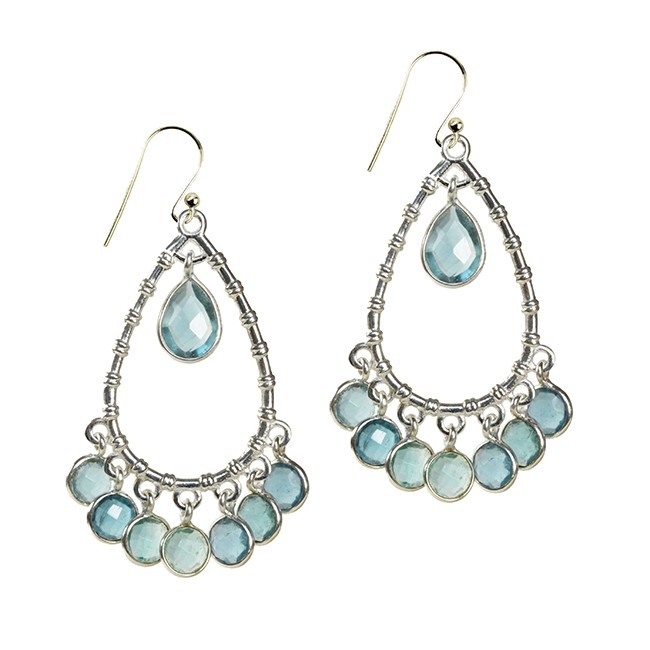 Clara Earrings Apatite Silver
