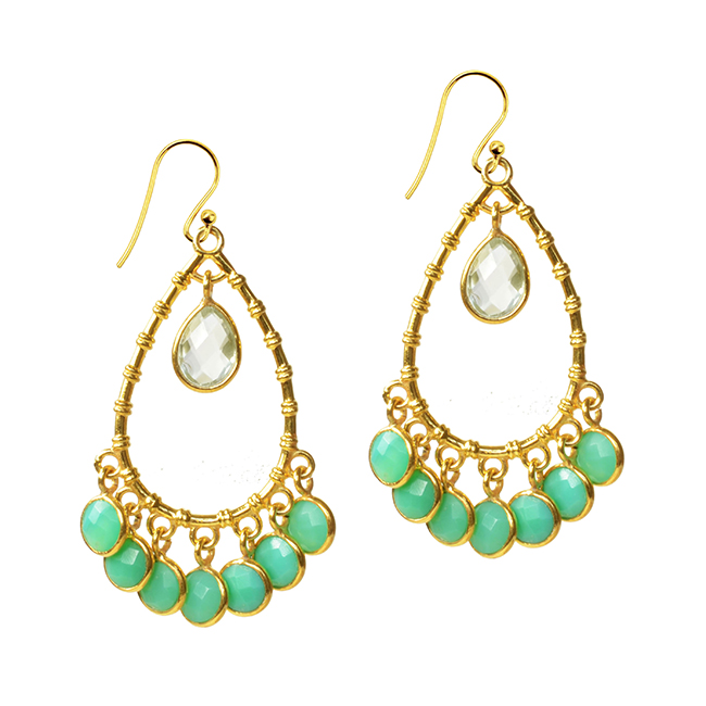 Clara Earrings Chrysoprase