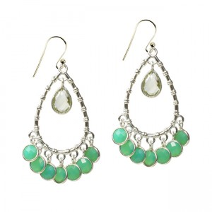 Clara Earrings Chrysoprase Silver