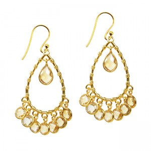 Clara Earrings Citrine
