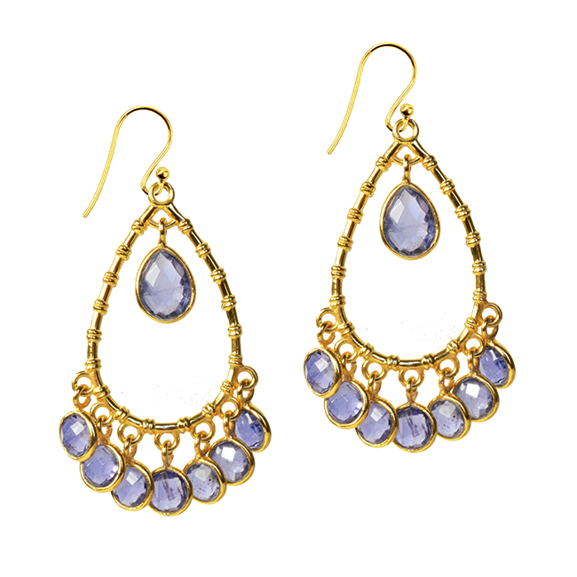 Clara Earrings Iolite