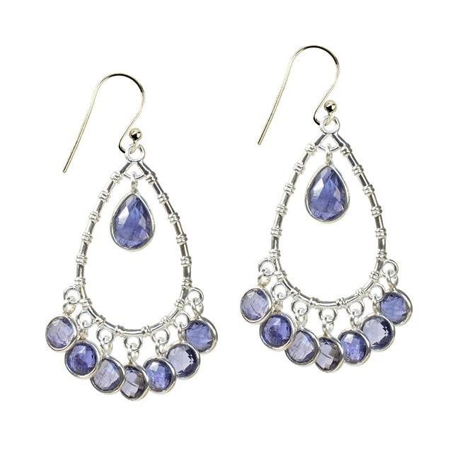 Clara Earrings Iolite Silver