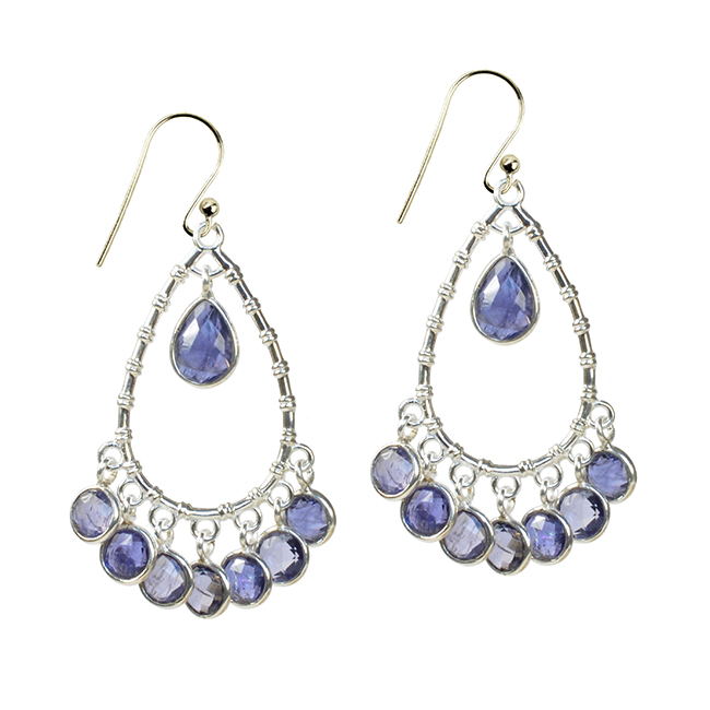 Clara Earrings Iolite Silver