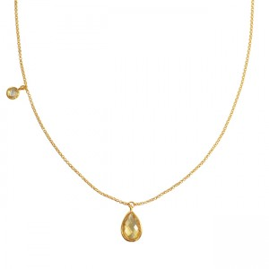 Clara Necklace Citrine