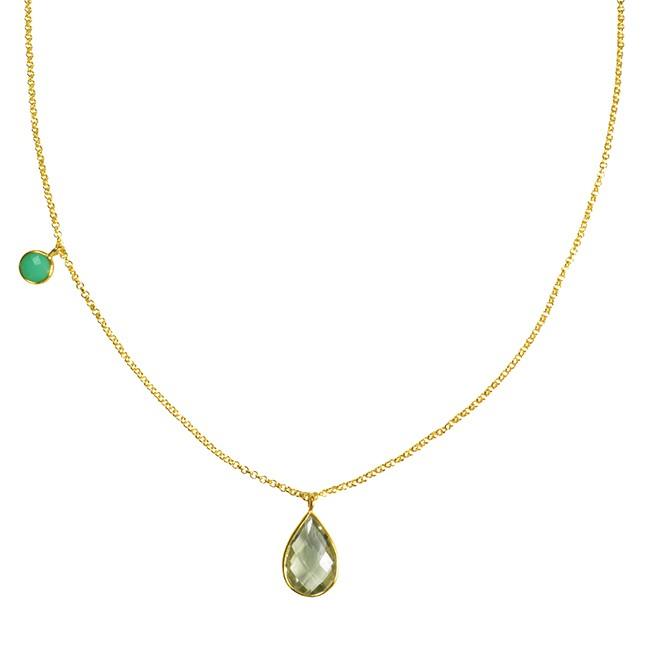 Clara Necklace Green Amethyst Chrysoprase