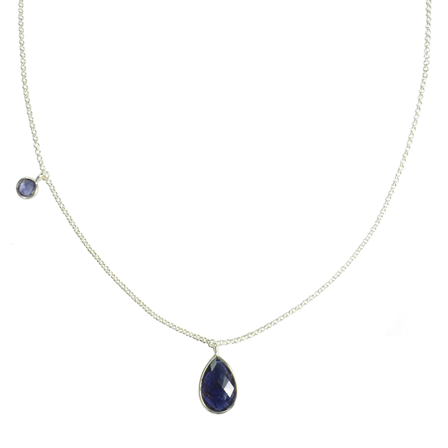 Clara Necklace Iolite Silver