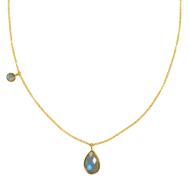 Clara Necklace Labradorite