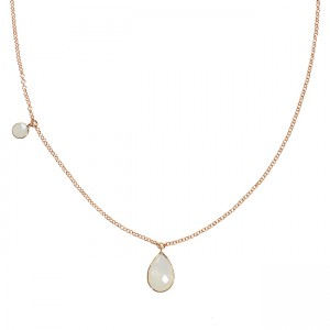 Clara Necklace Moonstone Rose Gold