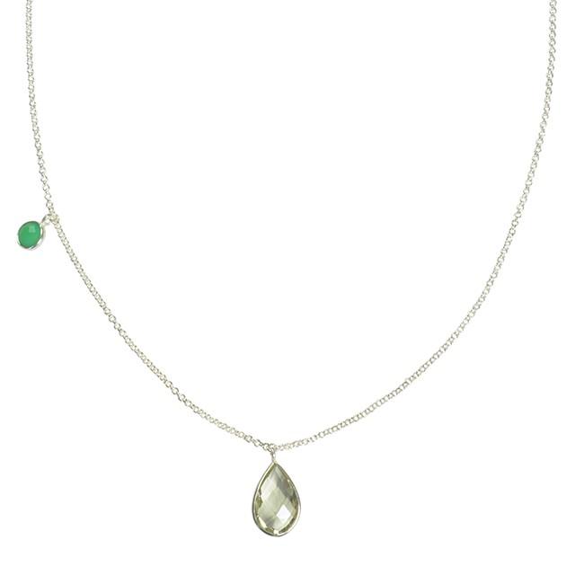 Clara Necklace Green Amethyst Chrysoprase Silver