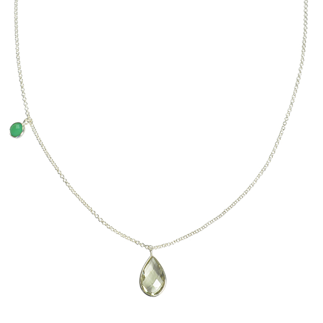 Clara Necklace Green Amethyst Chrysoprase Silver