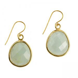 Esme Earrings Aqua Chalcedony