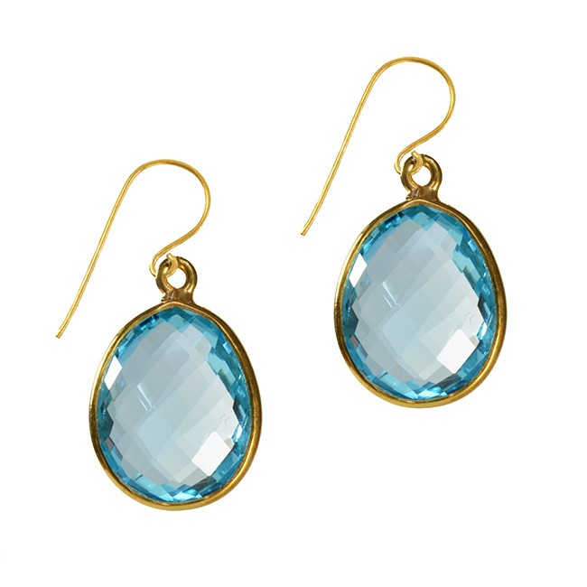 Esme Earrings Blue Topaz