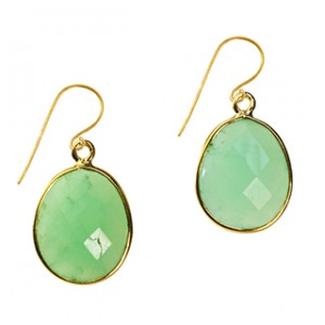 Esme Earrings Chrysoprase