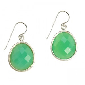 Esme Earrings Chrysoprase Silver