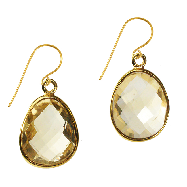 Esme Earrings Citrine