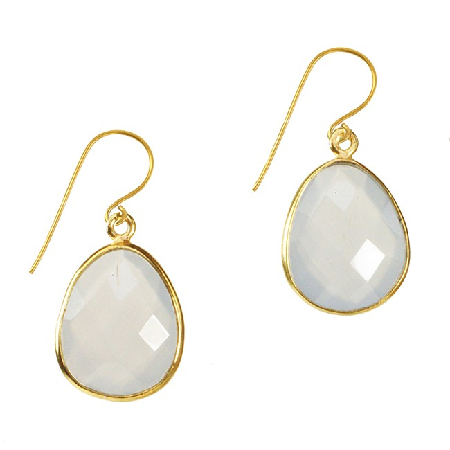 Esme Earrings Natural Chalcedony