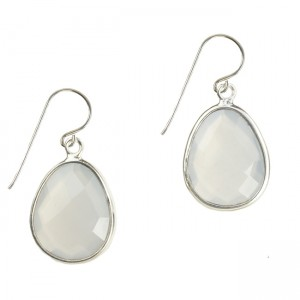 Esme Earrings Natural Chalcedony Silver