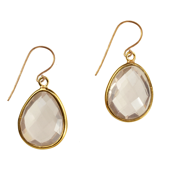Esme Earrings Rose Quartz