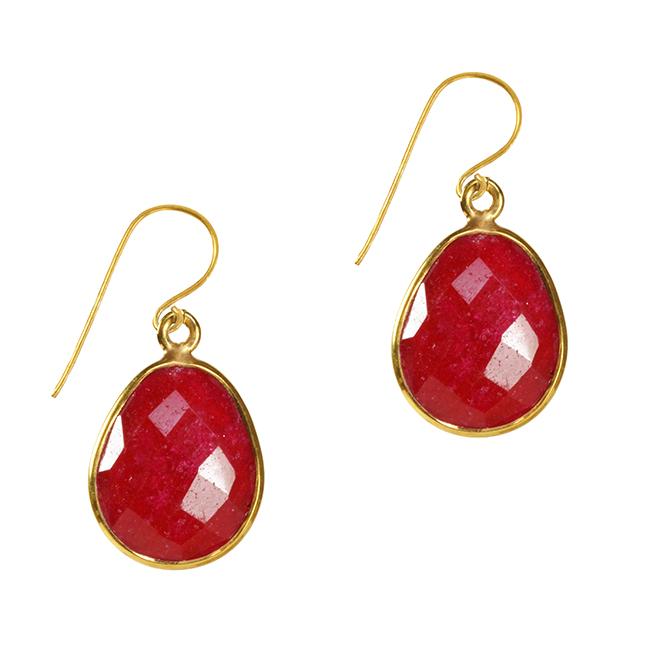 Esme Earrings Ruby