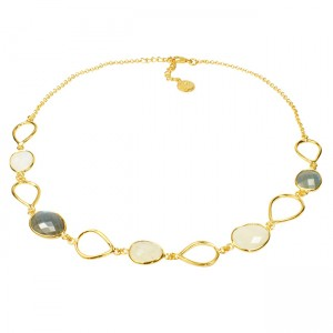 Esme Necklace Labradorite Moonstone