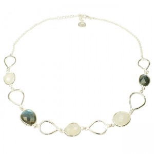 Esme Necklace Labradorite Moonstone Silver
