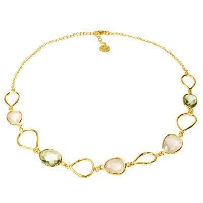 Esme Necklace Rose Quartz Green Amethyst